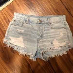 American Eagle Outfitters Shorts - Button fly distressed shorts